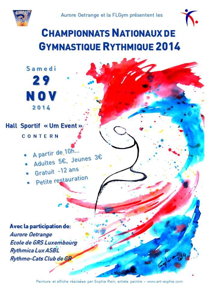 Aurore organised the 2nd National Championships of Rhythmic Gymnastics on  Saturday 29th November 2014 1c6aa40126f